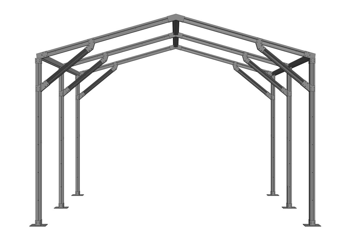 RED Structura sera metalica 04