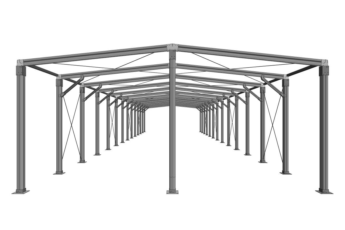 RED Structura sera metalica 06