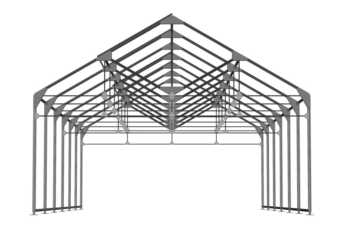 RED Structura sera metalica 07
